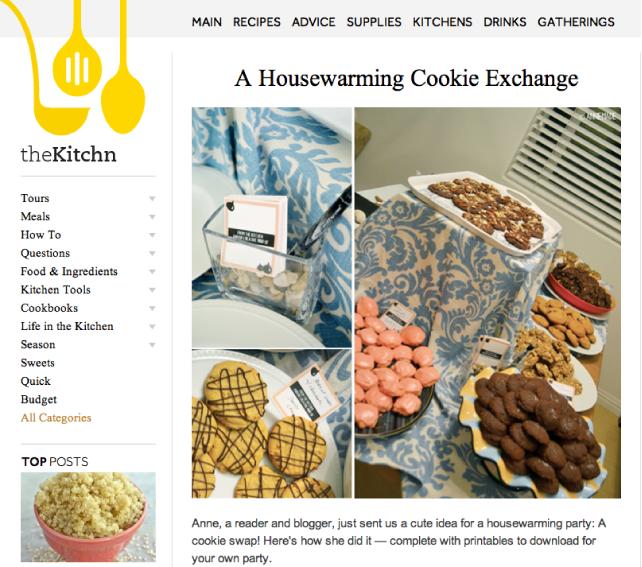 anniemade Housewarming featured on TheKitchn
