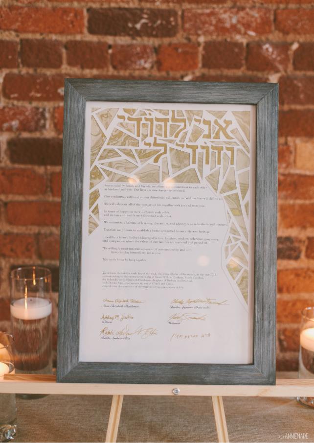 anniemade DIY Papercut Interfaith Ketubah (Jewish Wedding Contract)