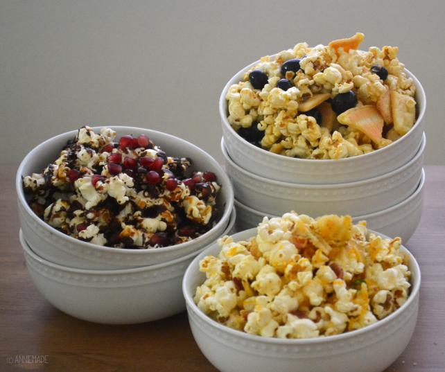 anniemade // 3 Gourmet Popcorn Recipes - All Gluten-Free