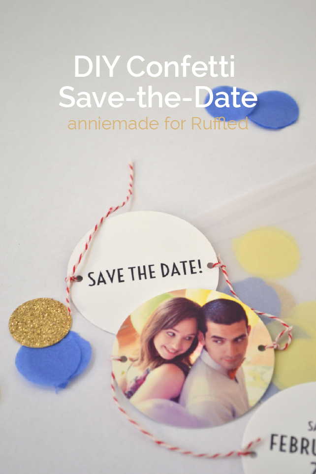 anniemade for Ruffled / Easy DIY Confetti Save-the-Date Tutorial