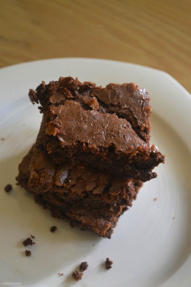 anniemade // Best Ever Gluten-Free Deep Dish Brownies, adapted from a Hershey's Recipe
