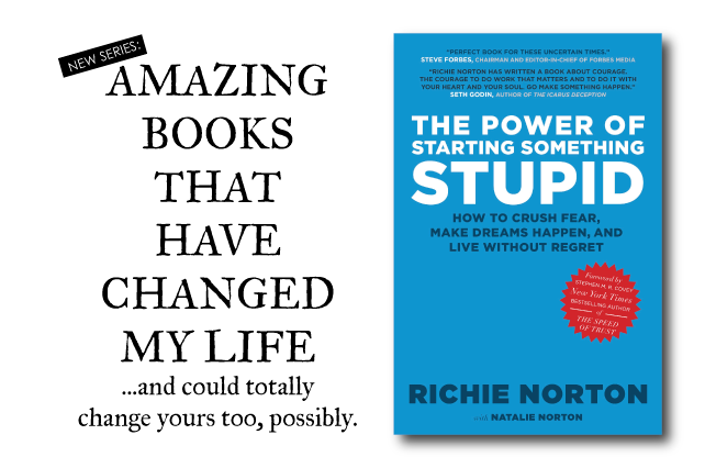 """anniemade Book Recommendations // """"The Power of Starting Something Stupid"""" by Richie Norton - Amazing motivation to get out there and make something happen!"""