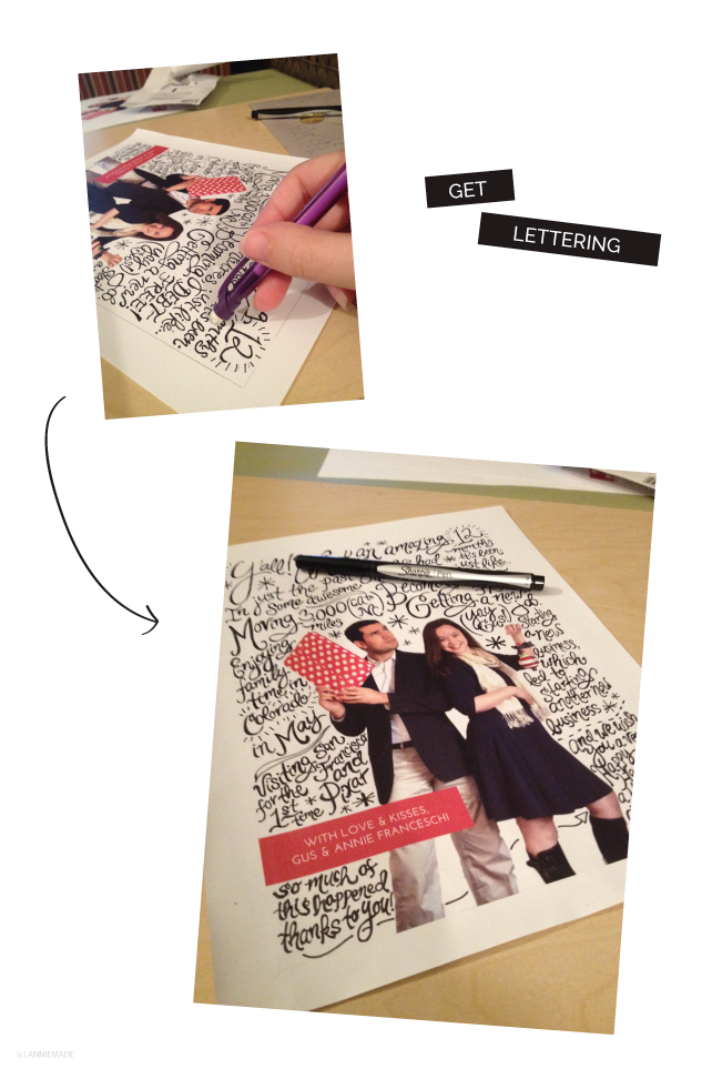 anniemade // DIY Hand-lettered Photo Cards - Tutorial!