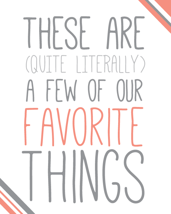 anniemade // Free Printables for a Favorite Things Party
