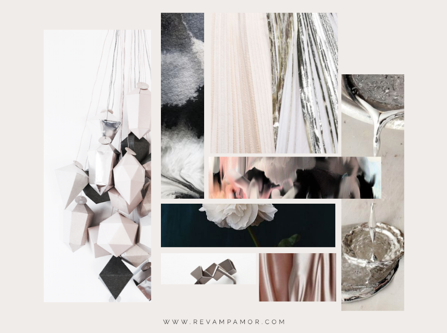COLOR LOVE: BLUSH, CHARCOAL & SILVER  -REVAMP, AMOR