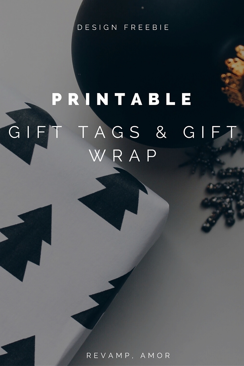 gorgeous free holiday printables- gift wrap & gifts tags