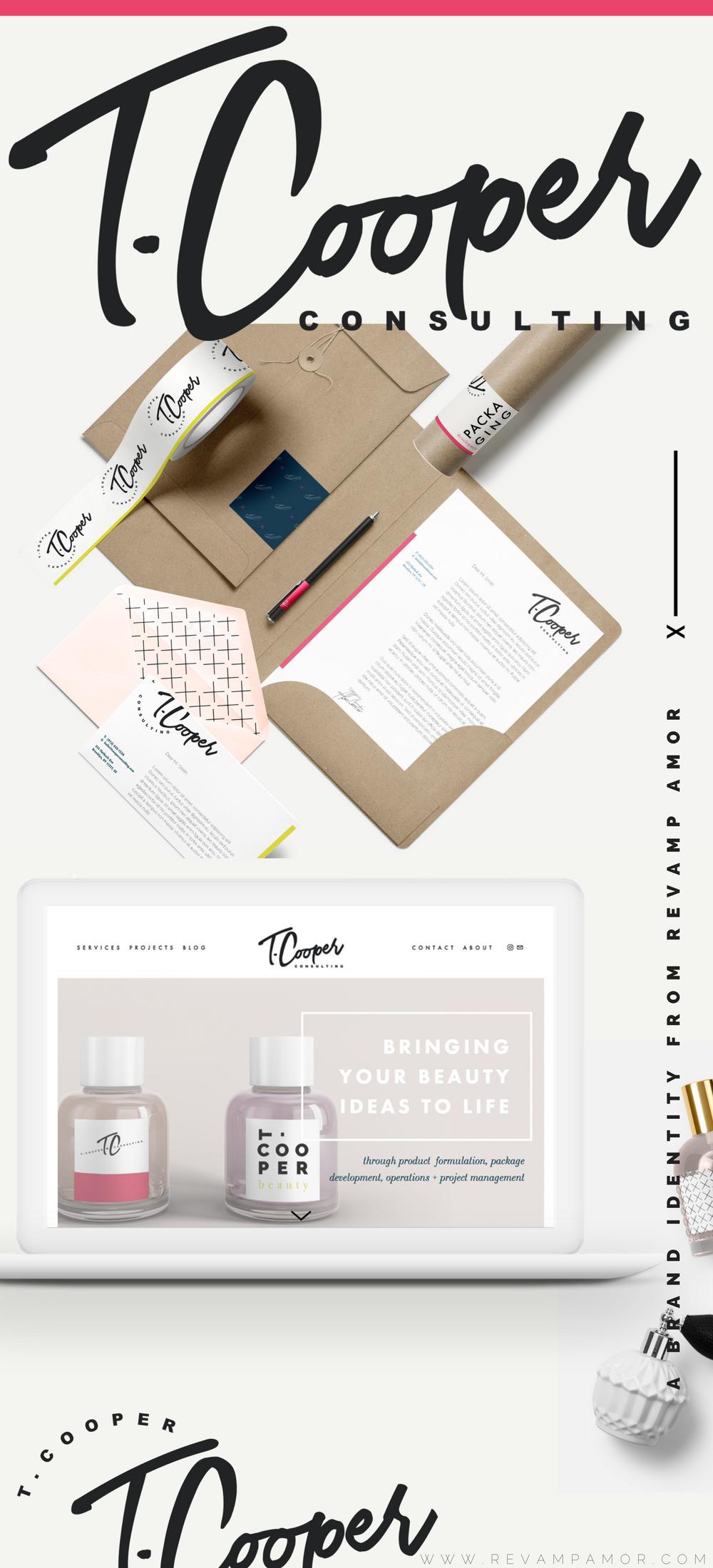 branding and custom squarespace design by Revamp Amor