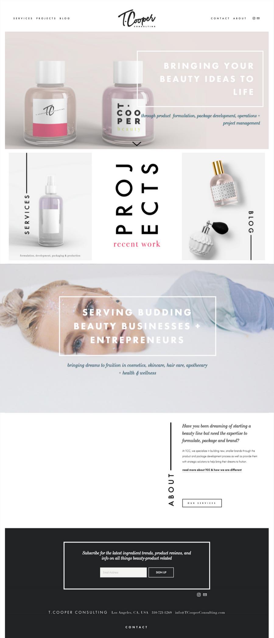 a custom brand + squarespace design from Revamp, Amor
