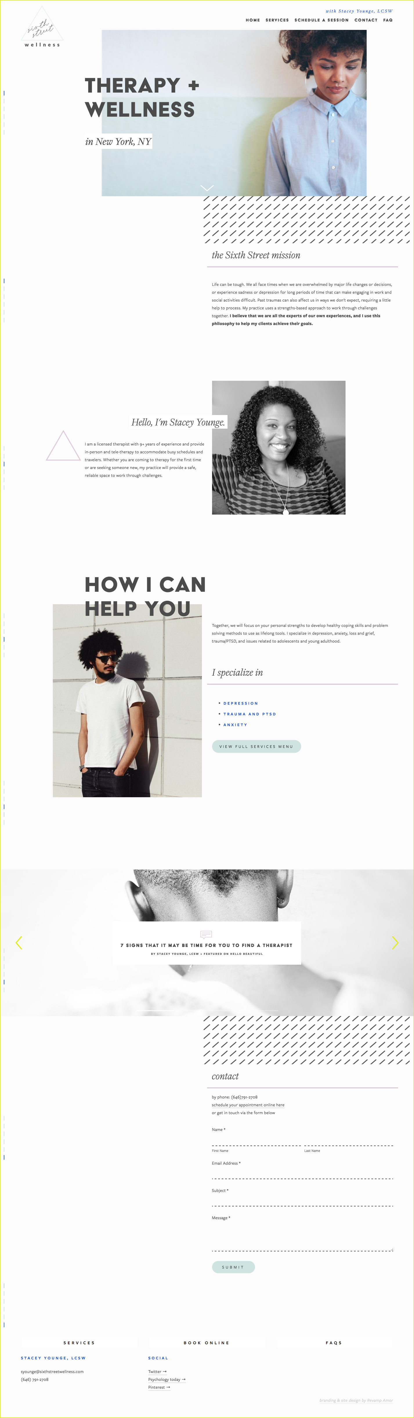 custom brand and squarespace web design