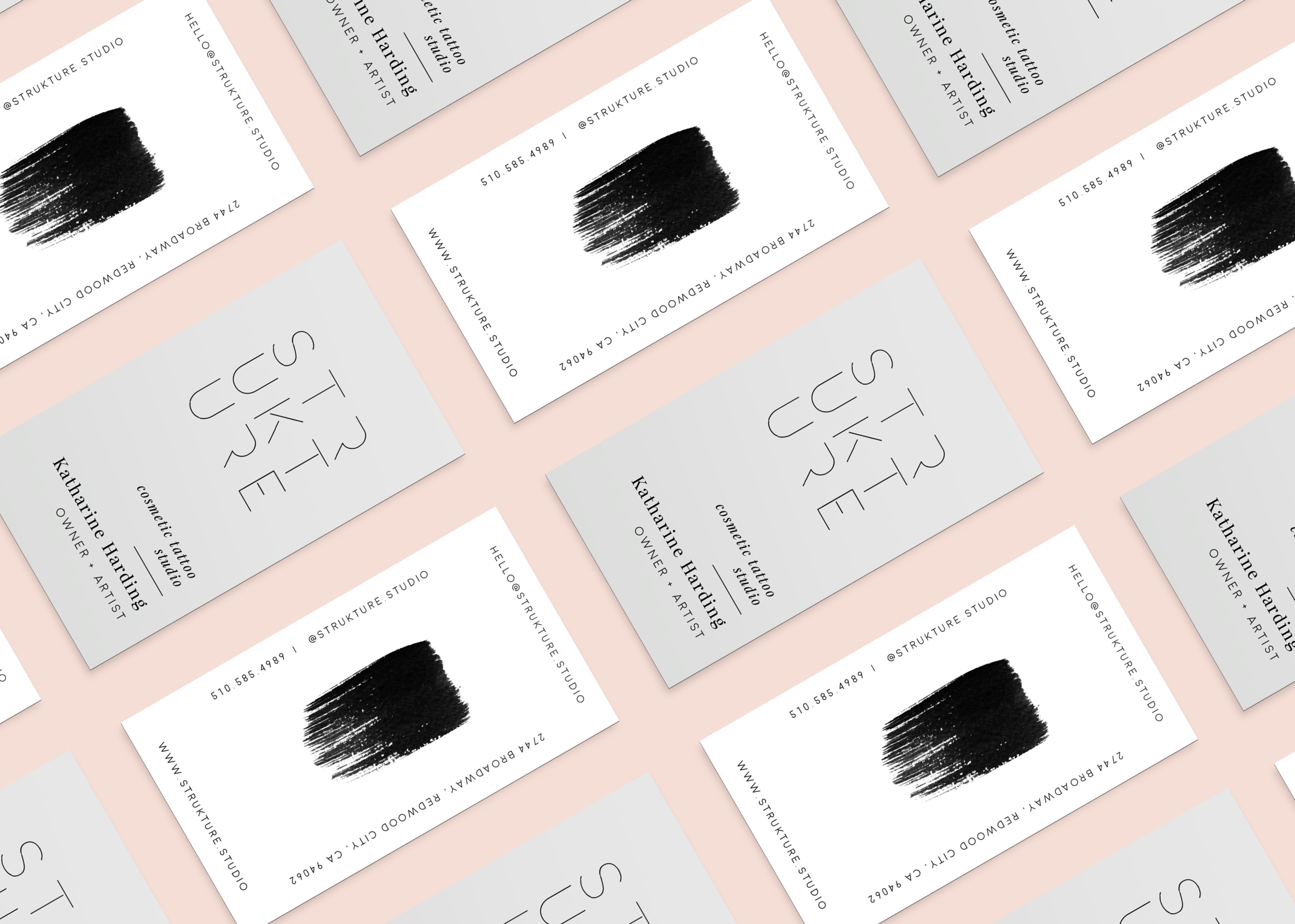modern logo design + business cards for beauty brand: STRUKTURE