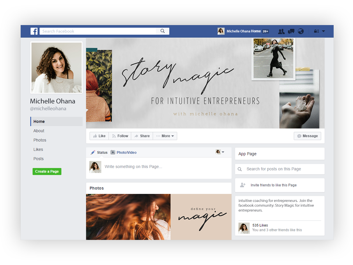 facebook styling
