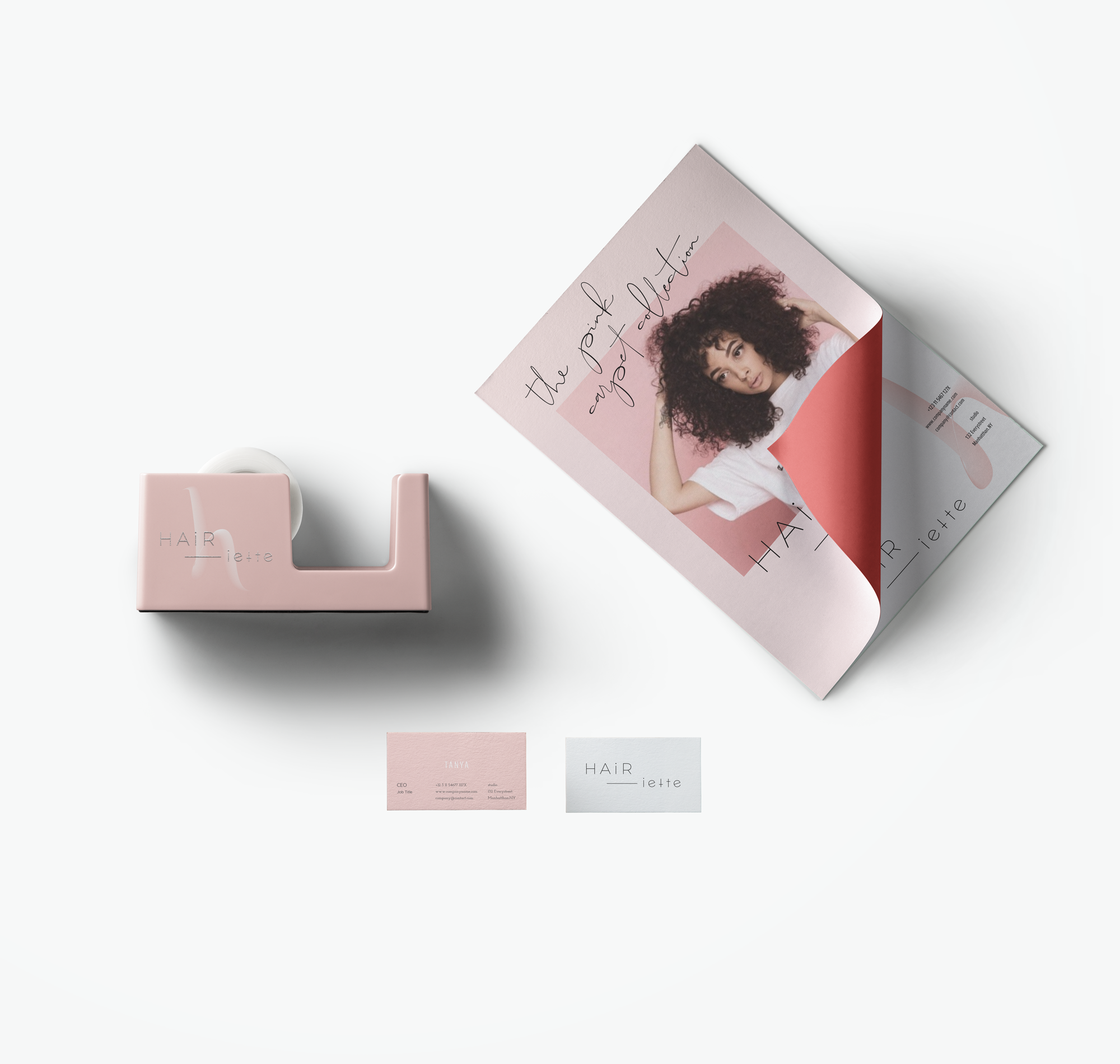 the design - youthful, bold, feminineThe HAIRiette brand is all about a lux beauty brand that is fun and bold. It feels city and friendly all at once.