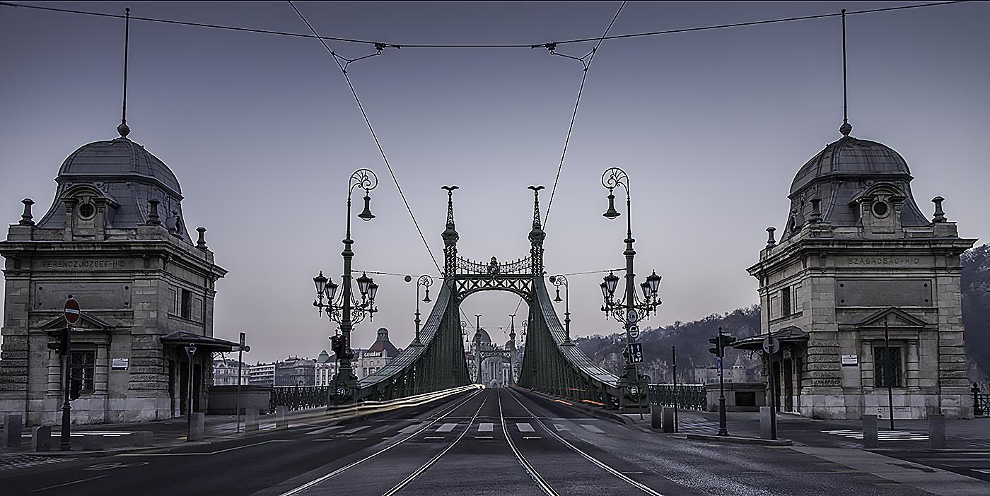 Мост Свободы за 5 минут до рассвета