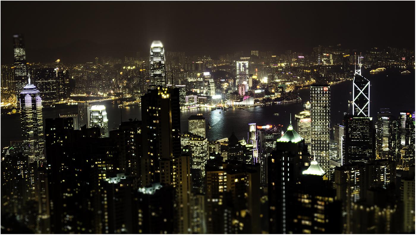 Небоскребы Гонконга с высоты Peak Tower