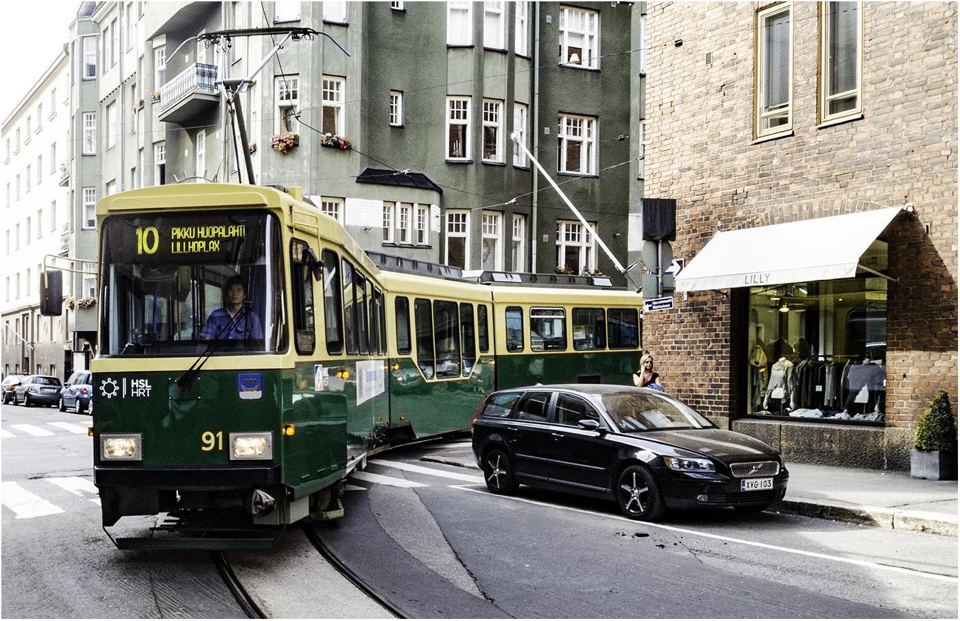 Хельсинки - единственный город в Финляндии,где ходят трамваи
