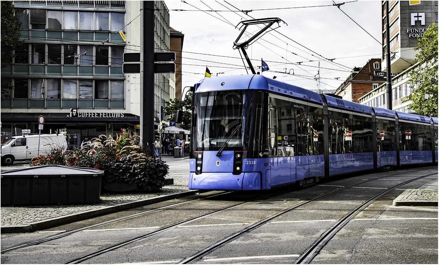 В Мюнхене среднее расстояние между остановками трамвая составляет 485 метров