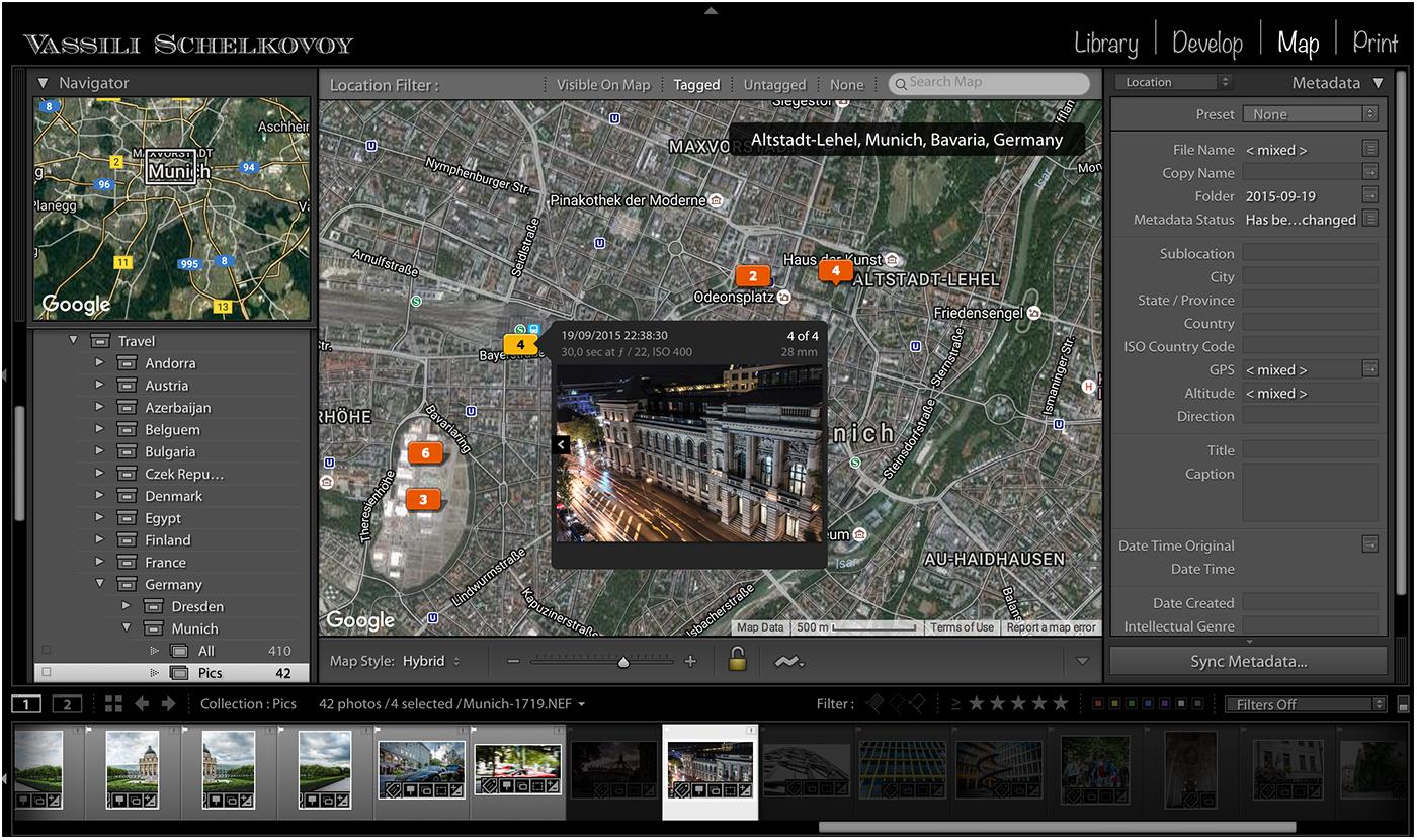 Пример использования GPS меток