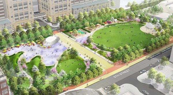 Downtown East Commons Proposed Park