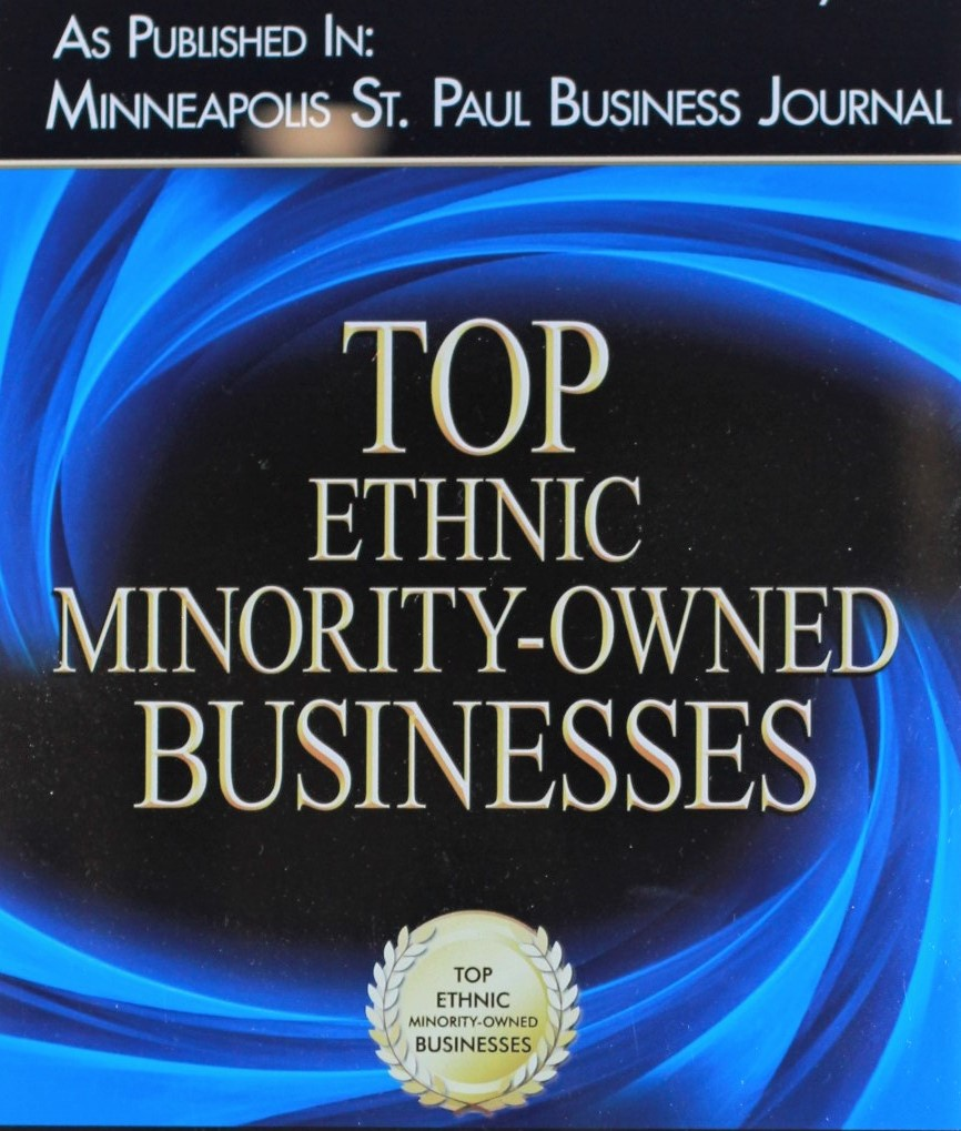 MINNEAPOLIS ST. PAUL BUSINESS JOURNAL BOOK OF LISTS:   Hallberg Engineering is proud to have been listed as one of the Top 25 Ethnic Minority-Owned Businesses 6 Years in a row:  2014, 2015, 2016, 2017, 2018, 2019