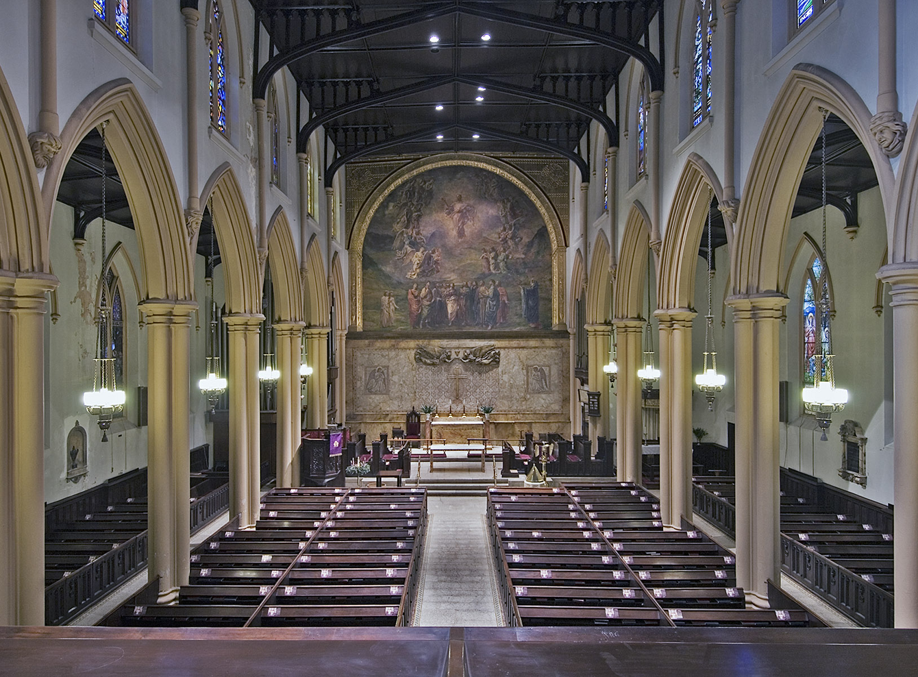 chancel before restoration
