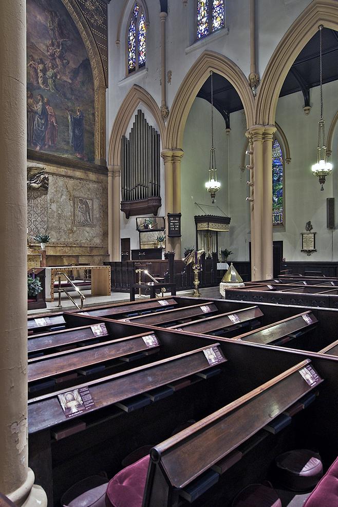 organ chamber before restoration