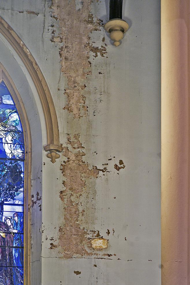 paint detail before restoration