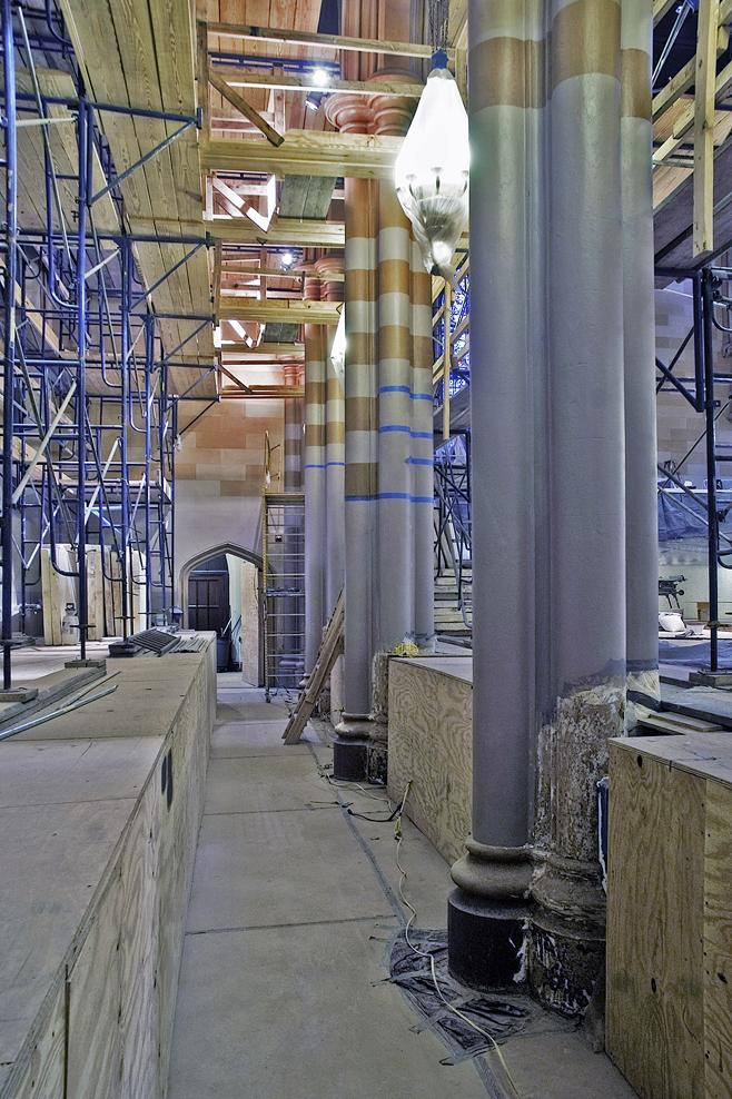 column prep & painting
