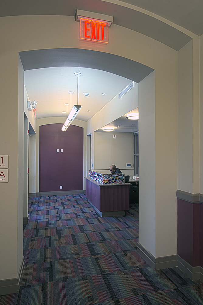 entry hallway and guard station