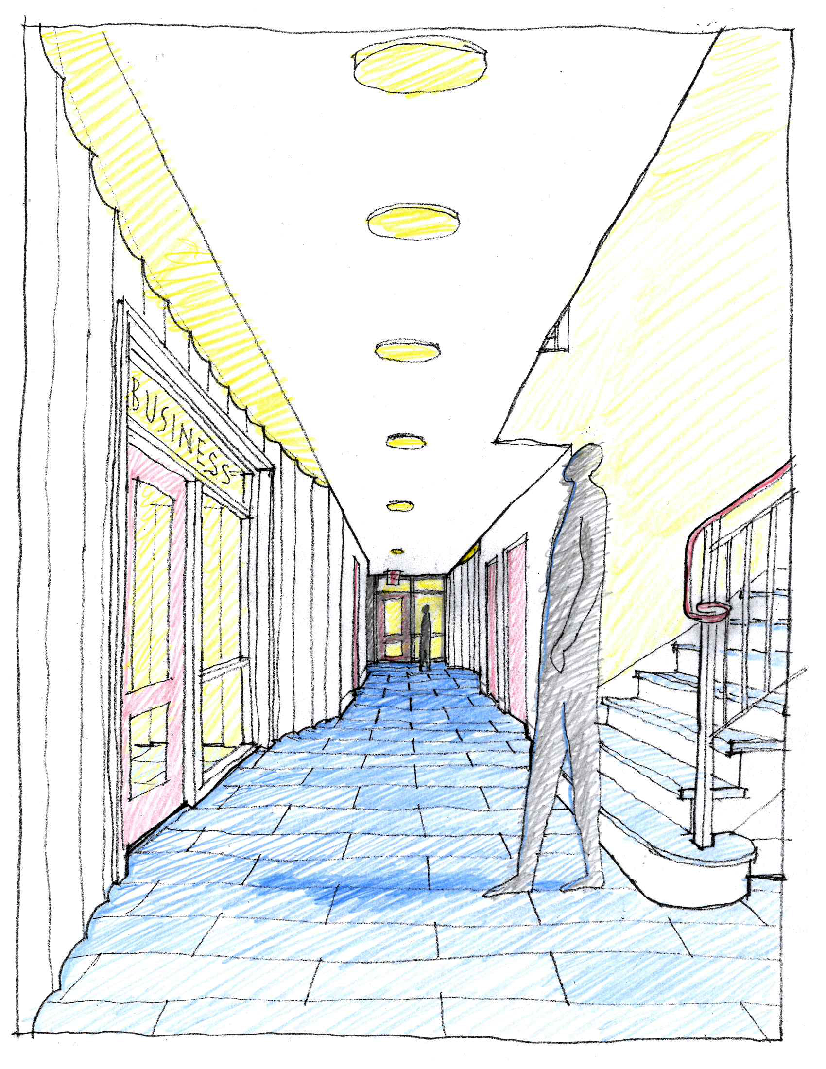 lower level hallway