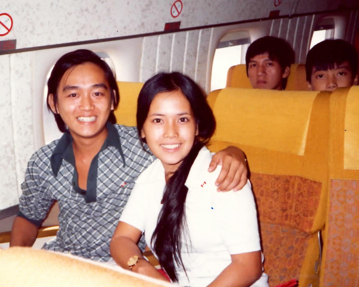 Vietnamese refugees bound for Canada.