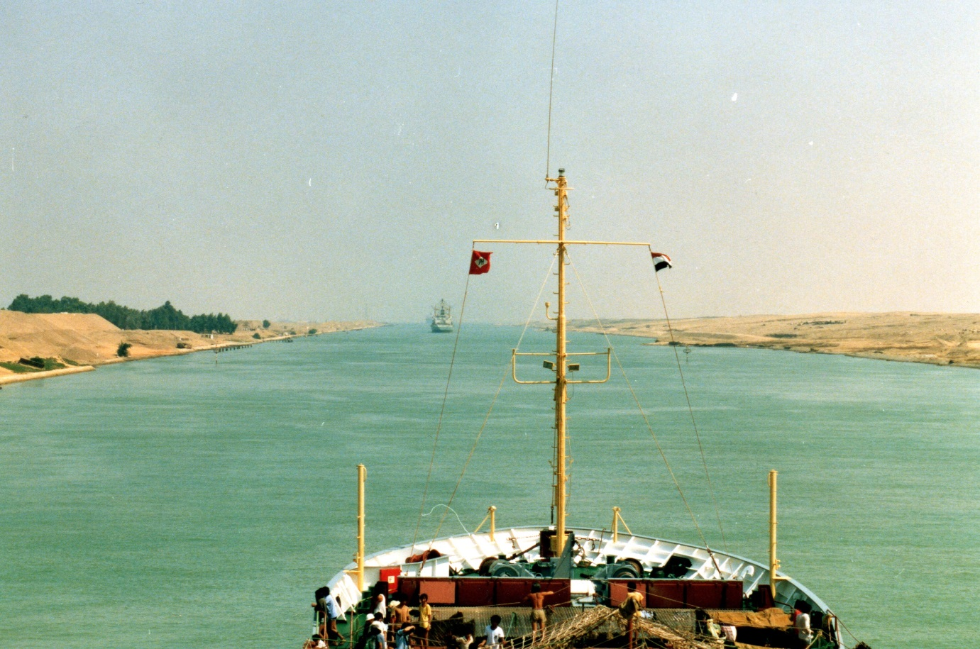 The CA II  entering the Suez Canal on its way to Hamburg.