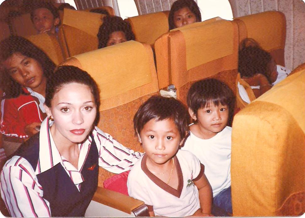 Air Canada VBP flight Joyce Ernyes and children.