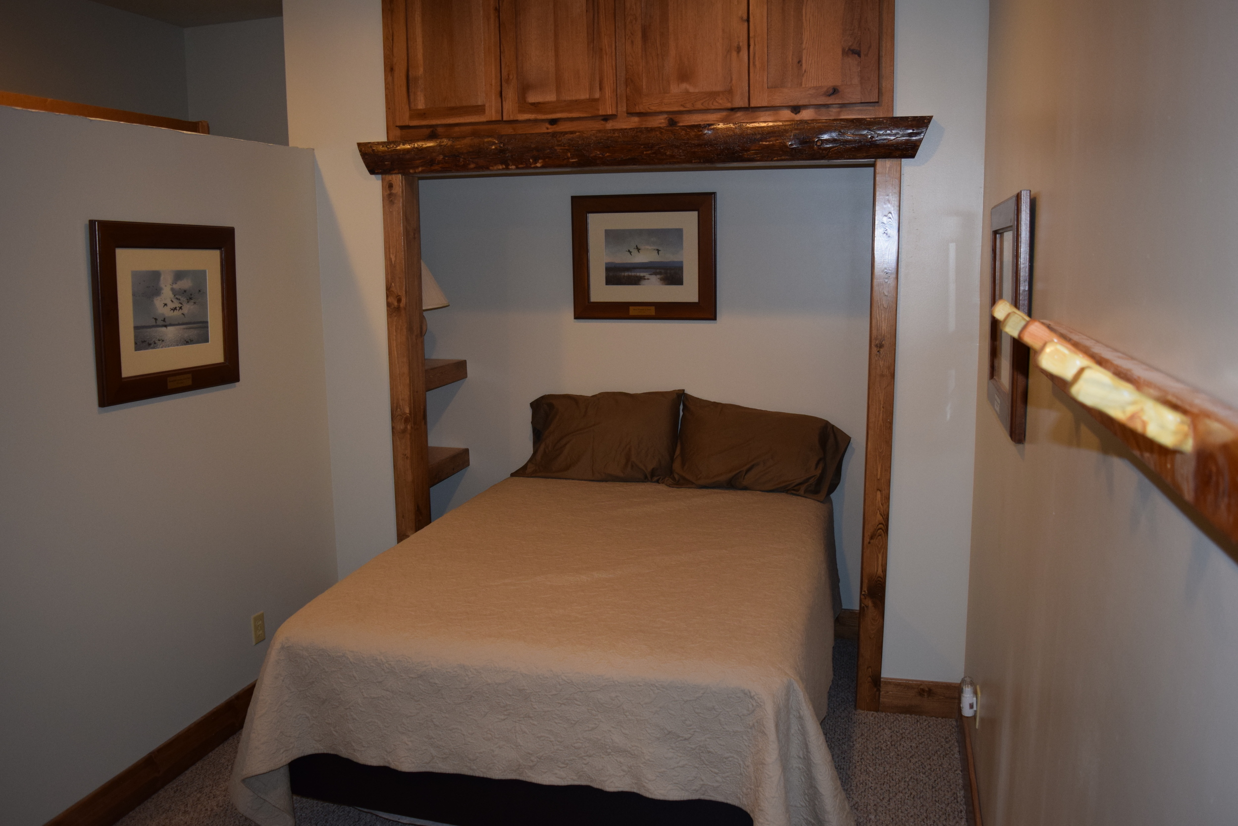 One of two upstairs bedrooms.