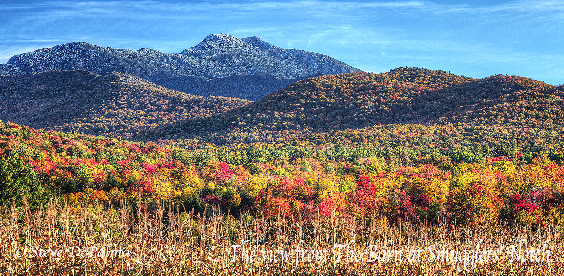 Fall 2015 Fall Foliage views of Mt Mansfield. The most picturesque location for your Stowe Wedding.