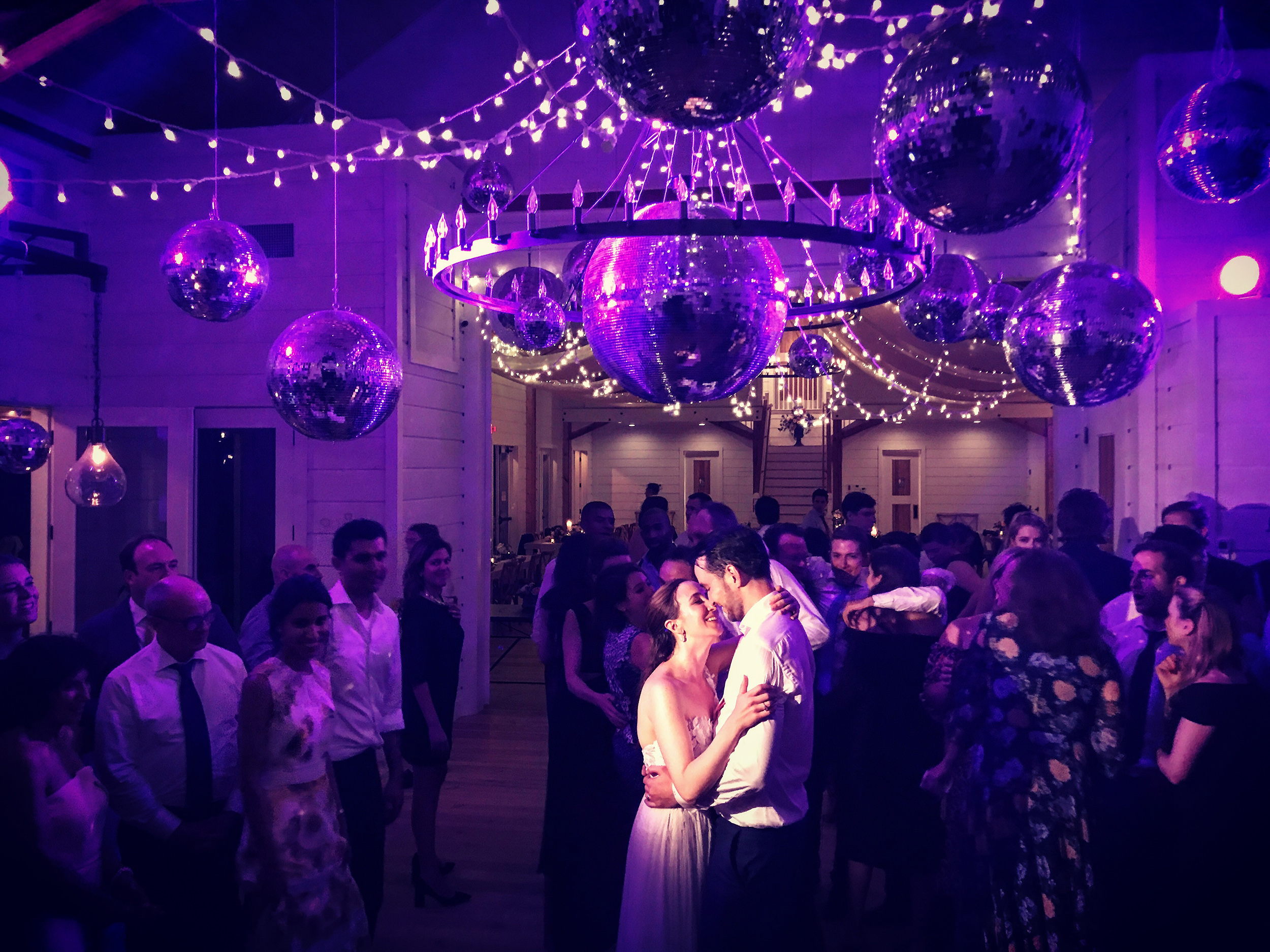 With Wood Floors throughout the entire venue and a wide open floor plan, there is always plenty of room for dancing the night away at The Barn at Smugglers' Notch. Image: Steve DePalma iPhone