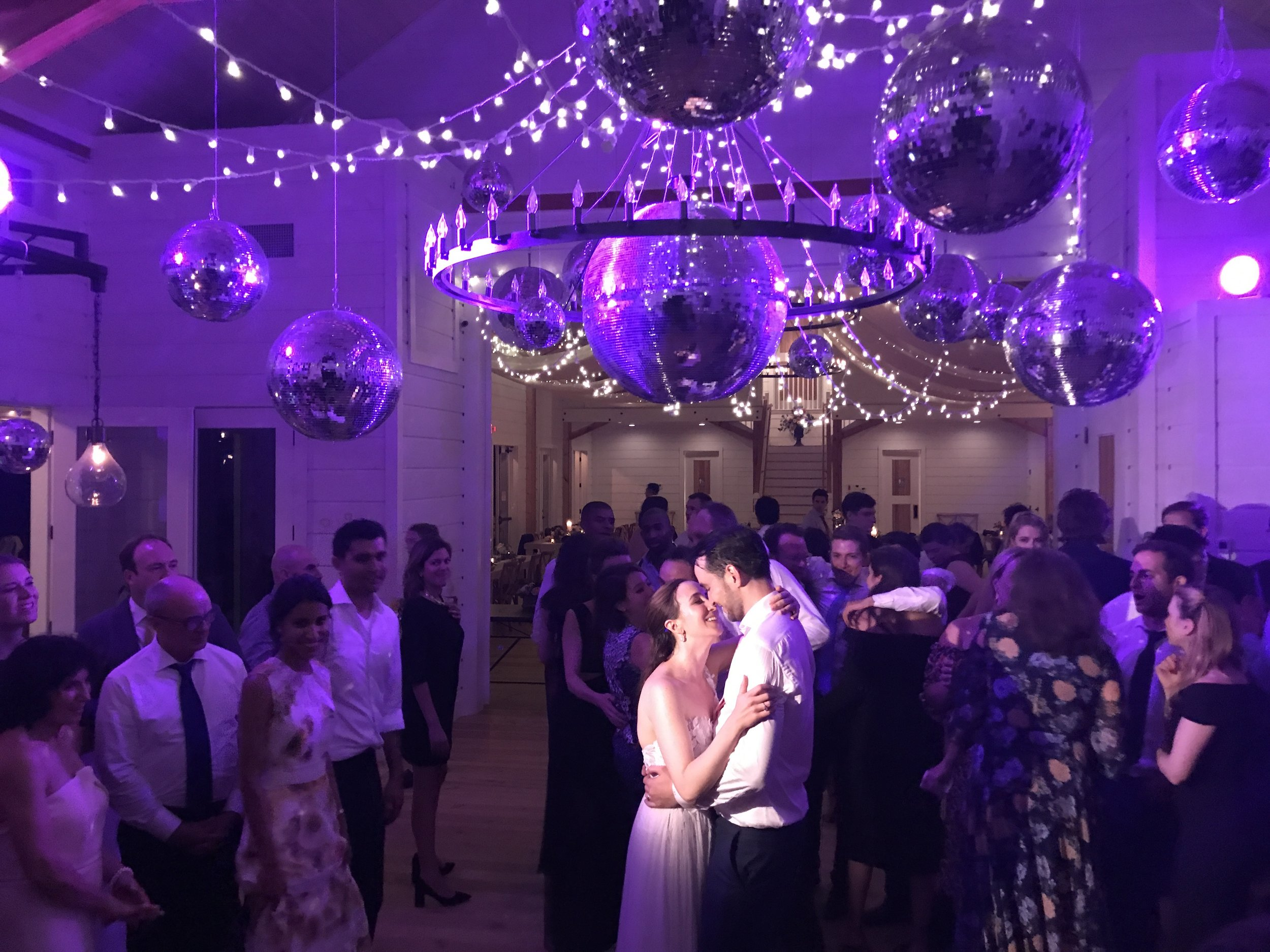 We turned Stowe Winery into a NYC Disco, complete w NYC DJ, Generations Events. image: S DePalma iphone