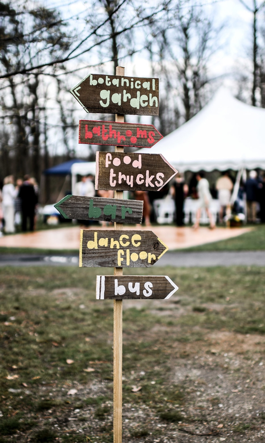 - The bride's talented sister did all the signs, cards, menu's and programs definitely check her out on Instagram!