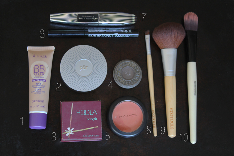 inside my makeup box // cashmere and plaid