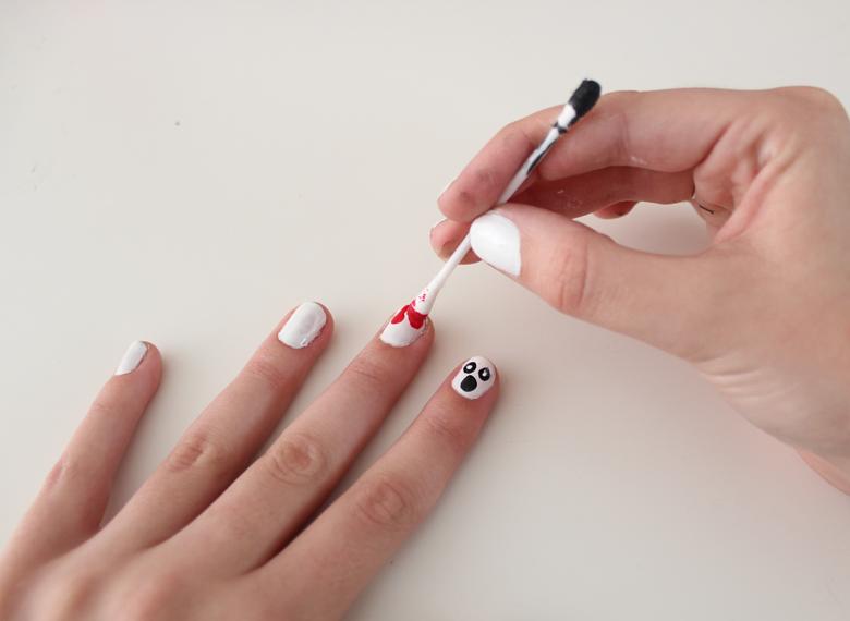 blood nail art