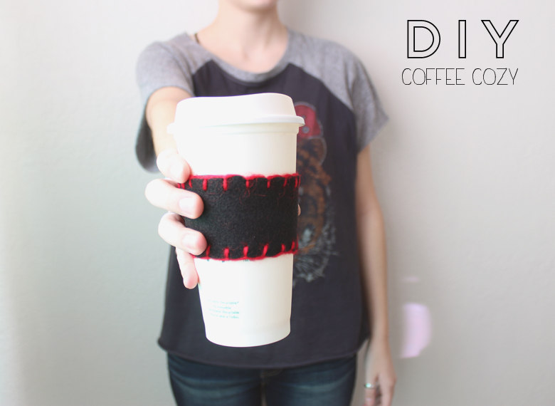 DIY coffee cozy