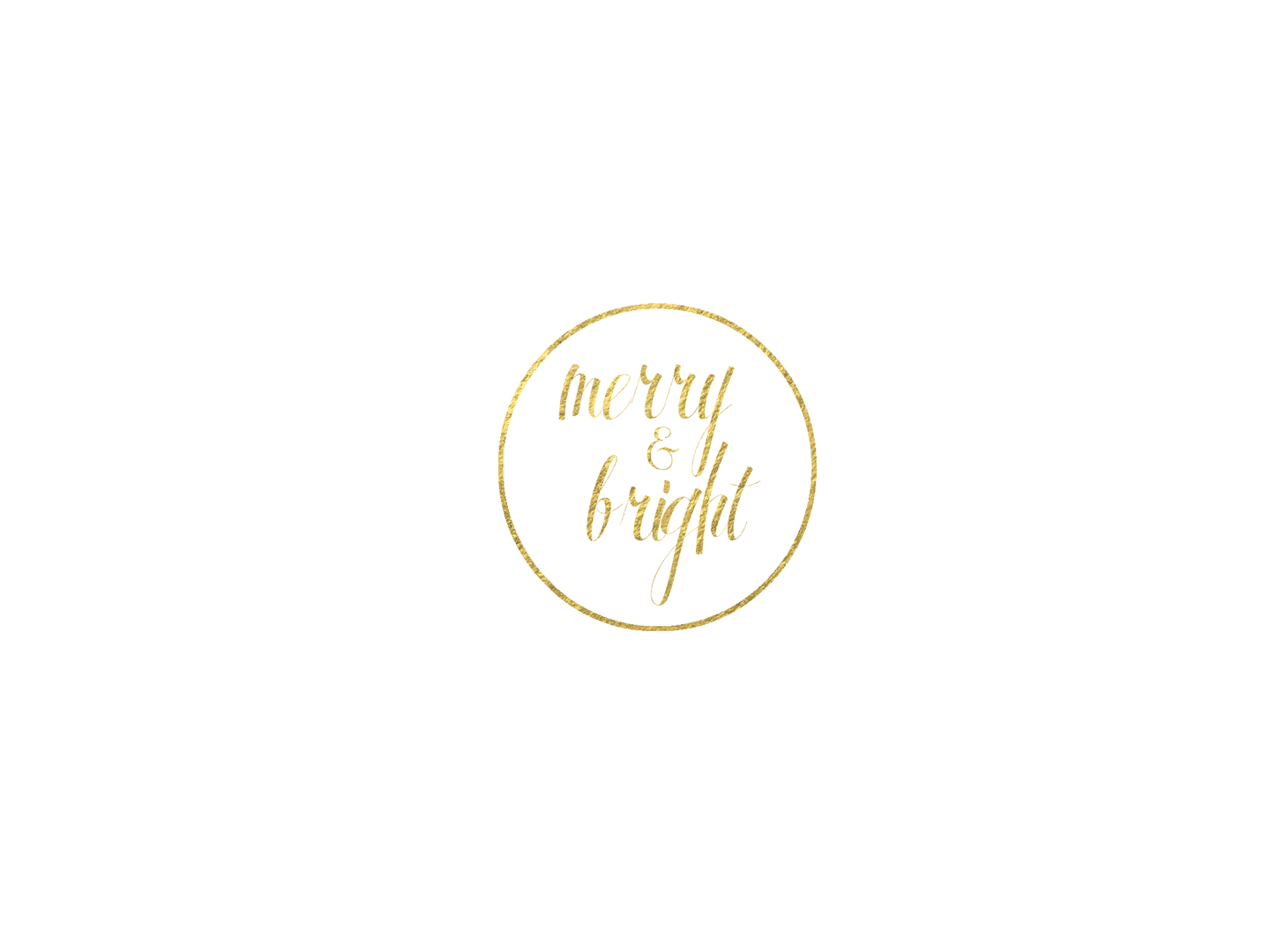 Merry and Bright Foil