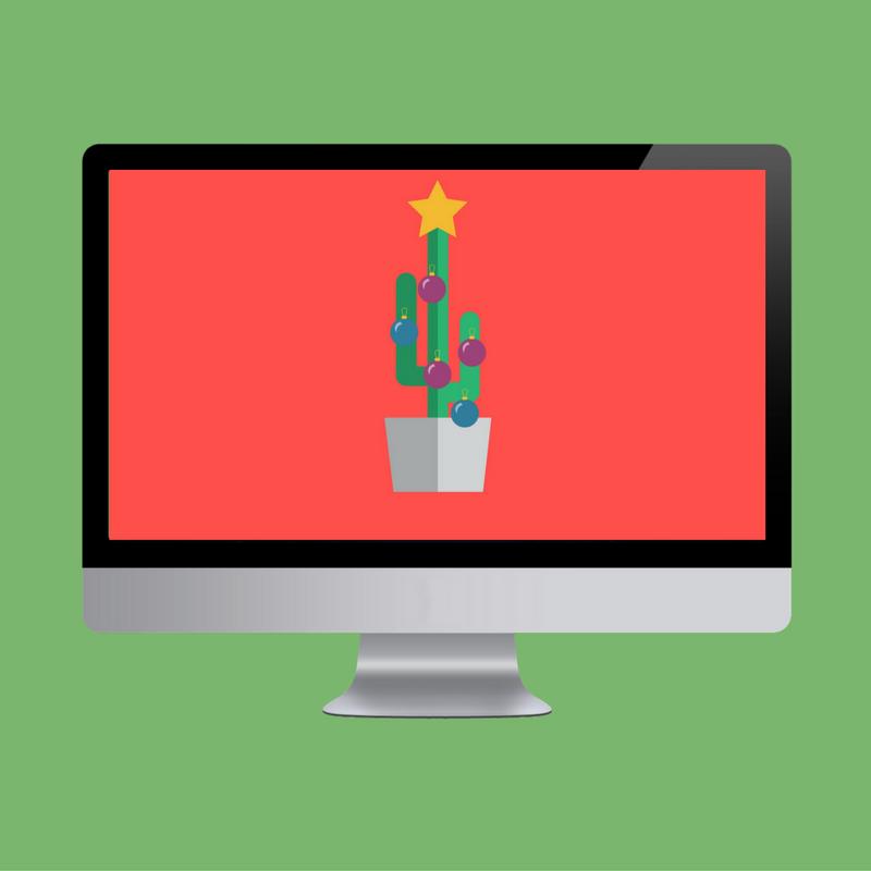 Cactus Christmas Tree Desktop