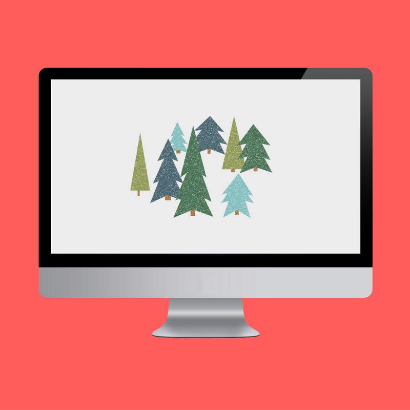 Snowy Trees Desktop