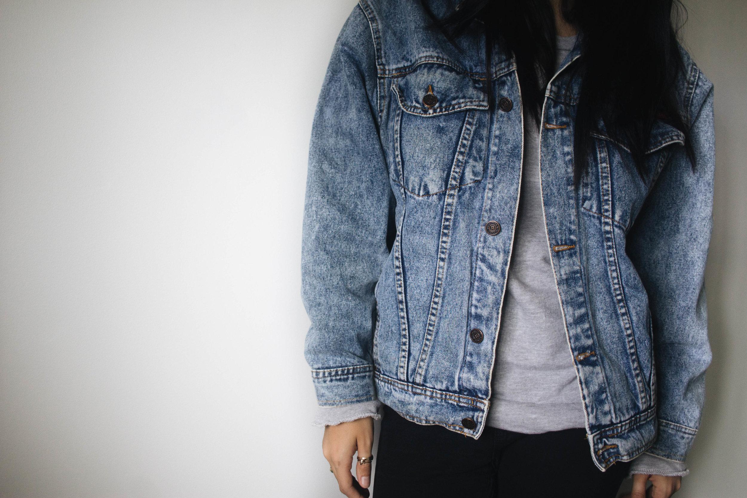 Take it Vintage - Vintage Jean Jacket Close up
