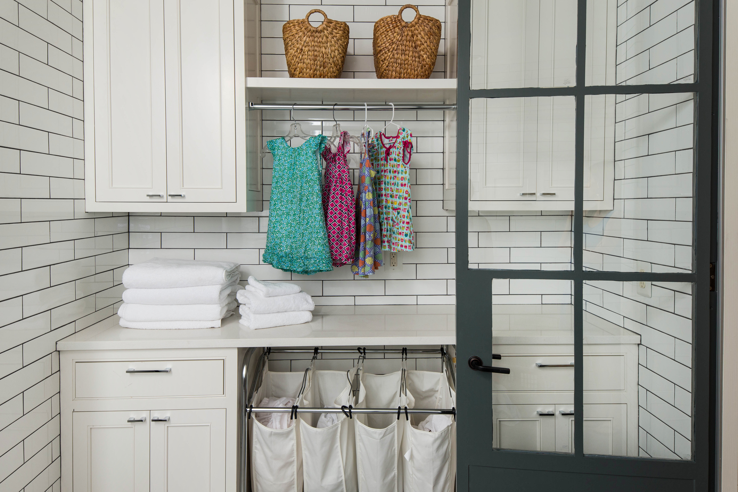 Laundry service space.