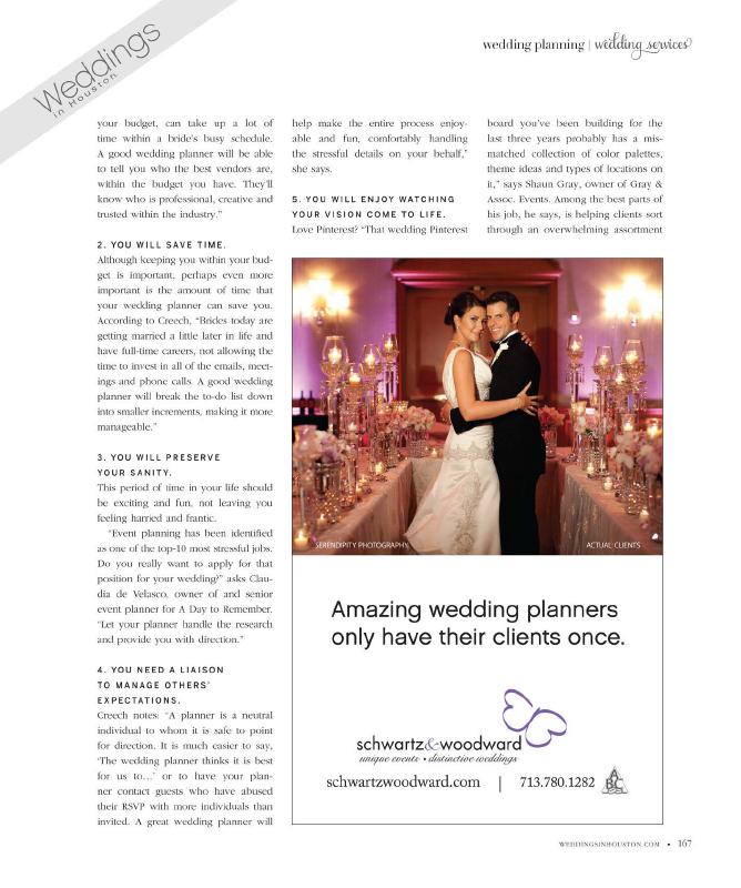 Wedding Planners Houston - Schwartz and Woodward - Houston Wedding Consultants - Houston Wedding Planners