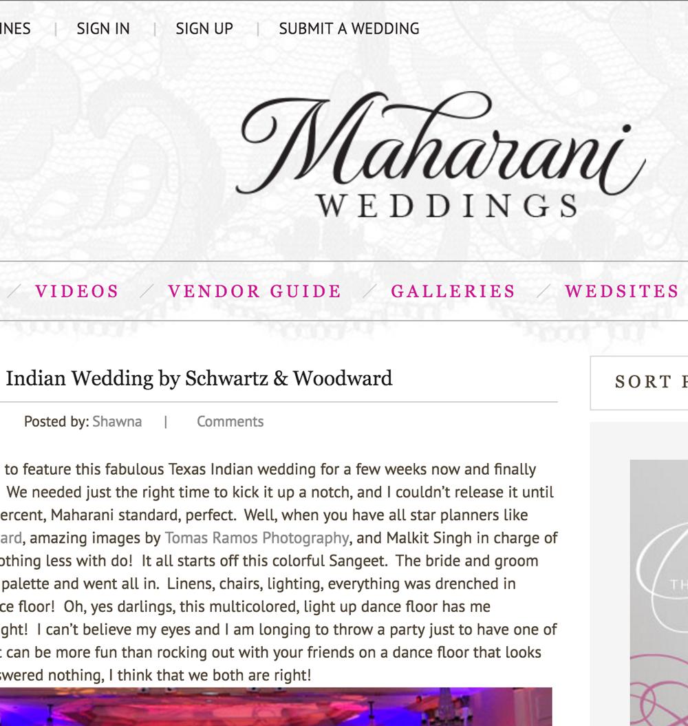 Flawless Texas Indian Wedding by Schwartz & Woodward - Maharani Weddings