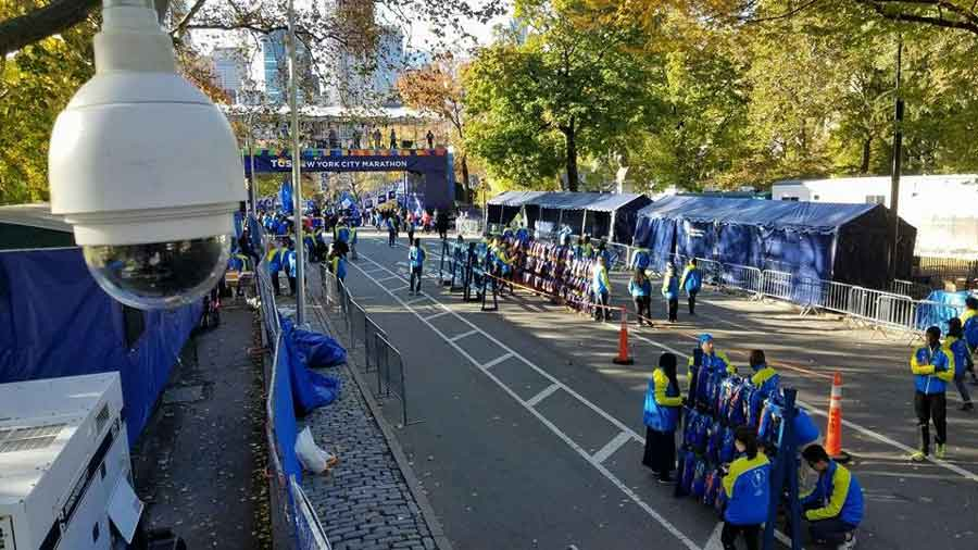 New York Marathon - DC Rentals Provided Critical Two-way communications, event cameras, as well as a command center and on-site technicians.