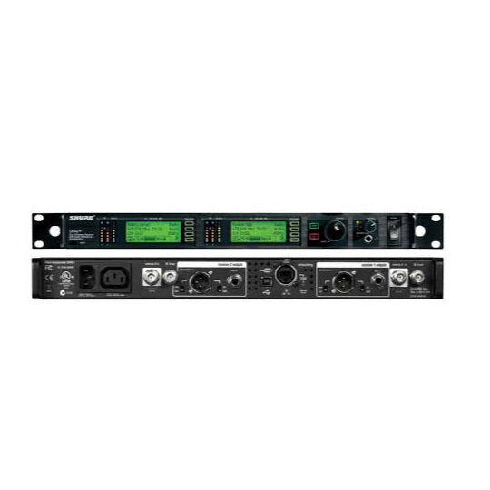 Shure UR4D Wireless   The UR4S and UR4D receivers provide single and dual-channel options for Shure's premium wireless. The latest technologies provide advanced control and robust flexibility for a wide range of professional uses.