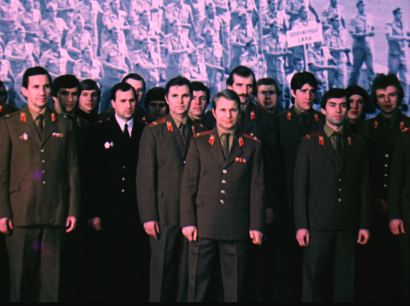 The USSR ice hockey national team in their official army uniforms